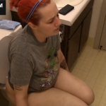 Chubby Girl Shitting On The Toilet As The Sounds Of Her Shit Are Captured