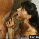 Scat Slave Is Covered In Poop As She Gives A Blowjob And Then Fucked