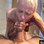 Blonde Scat Girl Enjoys Fucking Covered In Shit And Finishing With A Scat Blowjob