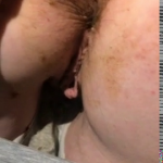 Girl Farts With Shit On Her Ass While Husband Plays With Her Ass Cheeks