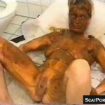 Mature Woman Loves Being Covered And Smeared With Hot Scat During Vintage Scene