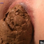Nice Closeup Of Hot Girl Shitting A Thick Turd On Webcam