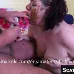 Dirty Scat Wife Enjoys Shit Play With Husband Including Tasting And Smearing Scat On Webcam