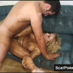 Watch Hairy Vintage Babe Get Fucked On The Couch Covered In Scat