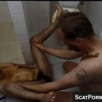 Hot Woman With Really Hairy Pussy And Body Has An Extremely Messy Scat Session With Boyfriend