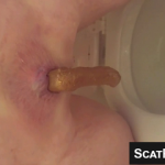 Older BBW Woman Takes A Nice Long Shit In The Toilet